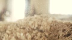 Sawdust in detail shot slowmo. - stock footage