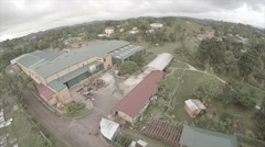 Drone view of compound on mountain 4 - stock footage