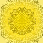 Circle Lace Ornament - stock illustration