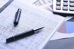 Business accounting , Business documents Stock Photos