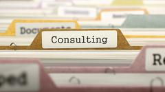 Folder in Catalog Marked as Consulting - stock illustration