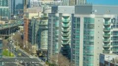 Lakeshore Blvd Time Lapse Toronto Canada Gardiner Expressway 4K 1080P Logos Remo Stock Footage
