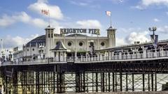 The Victorian Brighton Pier - stock footage