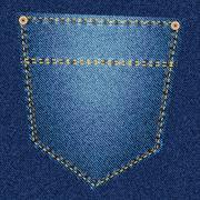 Blue jeans pocket Stock Illustration