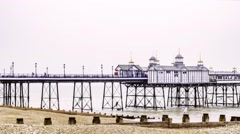 View of the Eastbourne pier Stock Footage