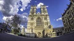 Westminster abbey in London Stock Footage