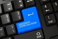 Assessment Centre Solutions CloseUp of Keyboard - stock illustration