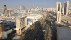 Wide and Aerial View, Skycrapers in Manama - Bahrain 02 Stock Footage