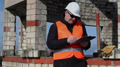 Civil engineer try to find ideas Stock Footage