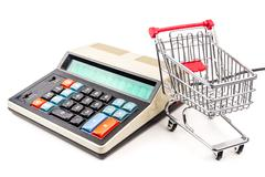 buying all what I need - stock photo