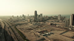 Wide and Aerial View, Skycrapers in Manama - Bahrain Stock Footage