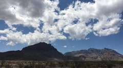 Time Lapse-  Clouds Over Panther Pass, Big Bend National Park, Texas Stock Footage