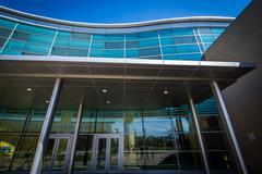Modern building at Morgan State University, in Baltimore, Maryland. Stock Photos