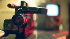 Vhs retro camera camcorder equipment 2 Stock Footage
