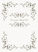 Set of decorative floral vector vintage frames. Stock Illustration