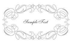 Decorative vector frame swirls for your text Stock Illustration