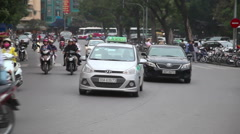 Street traffic in Ha Noi Stock Footage