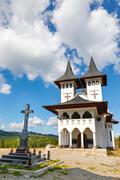 Orthodox church in Manastirea Prislop, Maramures country, Romania - stock photo
