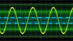 Stock Illustration of Texture wave oscilloscope