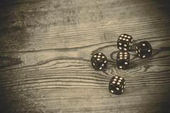 dice on the table - stock photo
