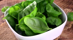 Rotating Basil (not loopable) Stock Footage