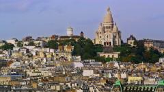 Paris France Buildings Skyline Sacre Coeur Church 5K HD Stock Video Footage - stock footage