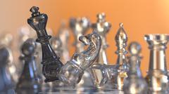 chess figures battle scene represents business strategy - stock illustration
