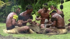 Fiji Natives Clapping Stock Footage