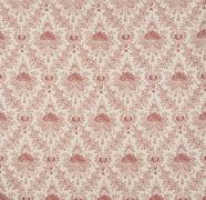 White and Red Floral Design Diagonal Pattern Wallpaper Swatch Stock Photos