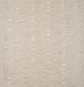Diagonal, scalloped, beige diamond pattern on cotton, linen fabric - stock photo