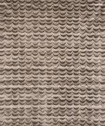 Brown Drapes or Waves Pattern Wallpaper Swatch Stock Photos