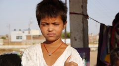 Indian street girl Stock Footage