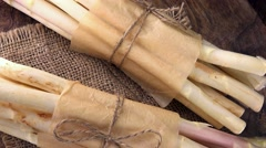 White Asparagus (not loopable; 4K) Stock Footage