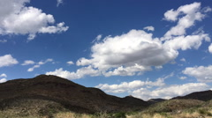 Time Lapse - Clouds Over the Chinati Mountains, Big Bend National Park, Texas Stock Footage