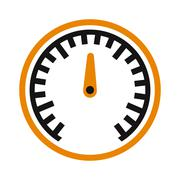 Vector performance measurement cars speed icon auto symbol - stock illustration