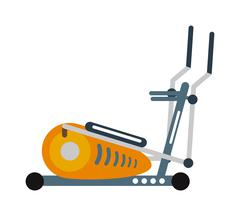 Stationary exercise bike sport gym machine health activity vector - stock illustration