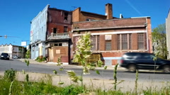 Abandoned building in Baltimore - stock footage