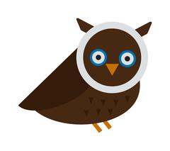 Stock Illustration of Owl wild bird cartoon vector