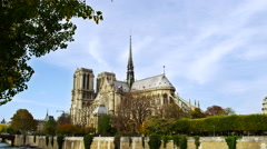 Notre Dame De Paris Cathedral France 5K HD Stock Video Footage Stock Footage