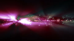 Background with bright blue and red lights blurred Stock Footage