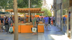 Street market Toulon France Stock Footage