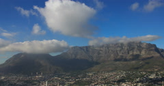 Time-lapse of Table Mountain with some cloud cover Stock Footage