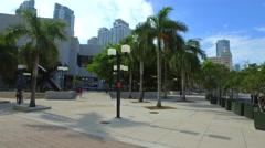 Downtown Miami urban scene Stock Footage