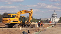 Construction on the mall in Washington DC  Stock Footage