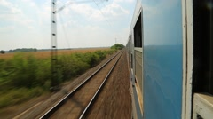 Train ride looking out - stock footage