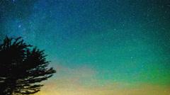 4K Big Sur Night Milkyway Geminids Meteor Shower Stock Footage
