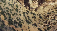 Hovering Over Eagle Canyon Arch Stock Footage