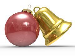 Christmas decoration on white background. Isolated 3D image Stock Illustration