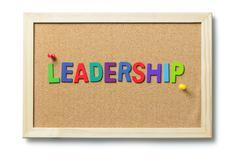 Colorful leadership word Stock Photos