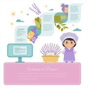 Background vector Provence - stock illustration